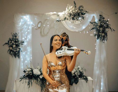 E-Geige-Show für Hochzeit
